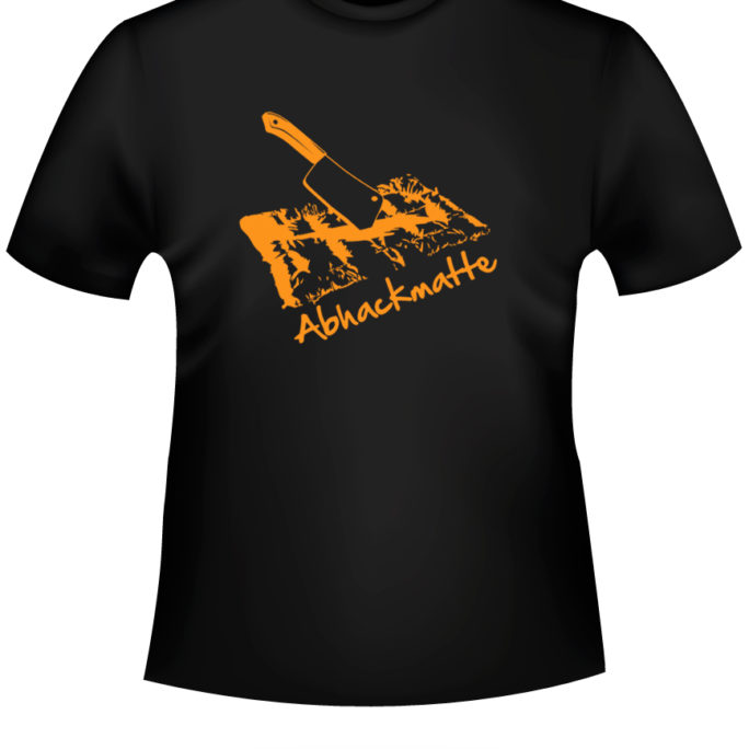 Abhackmatte - Abhackmatte-tshirt-Schwarz-orange.jpg - not starred
