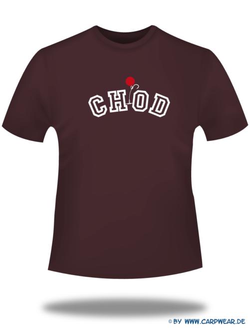 CHOD - T-Shirt-CHOD-Bordeaux-Motiv-Weiss.png - not starred