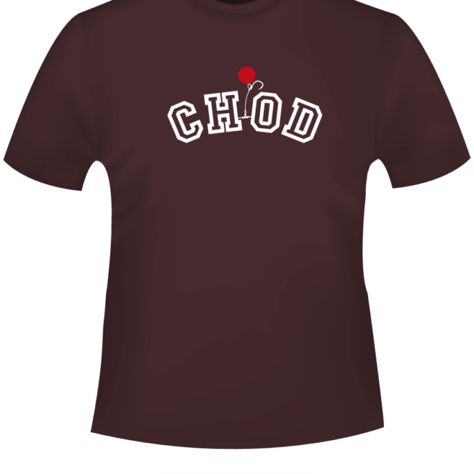 CHOD - T-Shirt-CHOD-Bordeaux-Motiv-Weiss.png - not starred