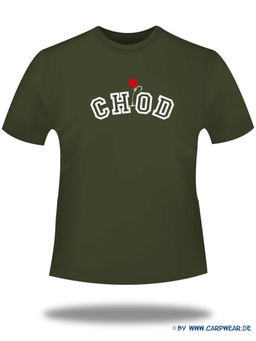 CHOD - T-Shirt-CHOD-Khaki-Motiv-Weiss.png - not starred