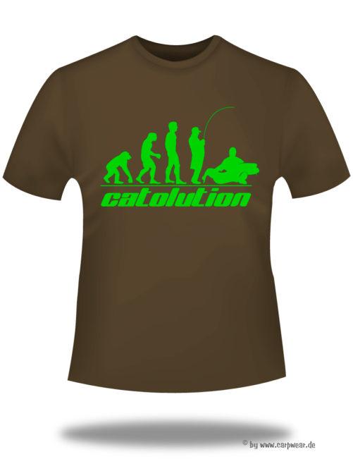 Catolution - T-Shirt-Catolution-braun-neongruen.jpg - not starred