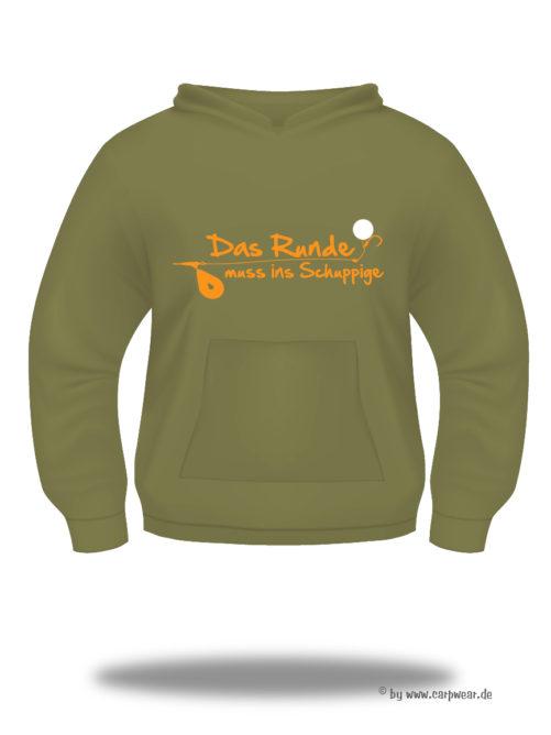 Das-Runde-muss-ins-Schuppige - DasRunde-Hoody-khaki-Orange.jpg - not starred
