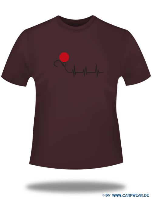 EKG - T-Shirt-EKG-Bordeaux-Motiv-Schwarz.png - not starred