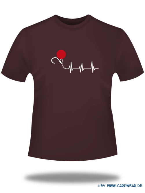 EKG - T-Shirt-EKG-Bordeaux-Motiv-Weiss.png - not starred