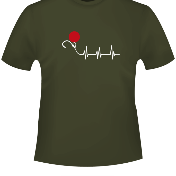 EKG - T-Shirt-EKG-Khaki-Motiv-Weiss.png - not starred