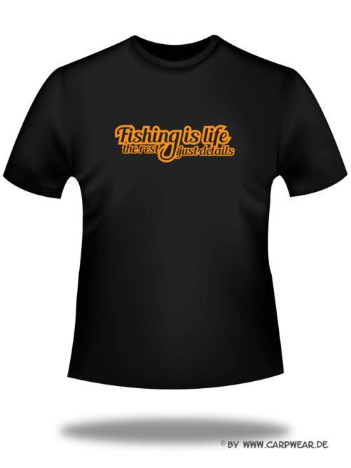 Fishing-is-Life - T-Shirt_Fishing_Schwarz_orange.jpg - not starred