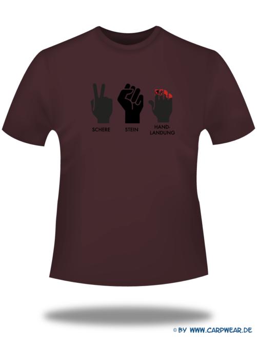 Handlandung - T-Shirt-Handlandung-Bordeaux-Motiv-Schwarz.png - not starred
