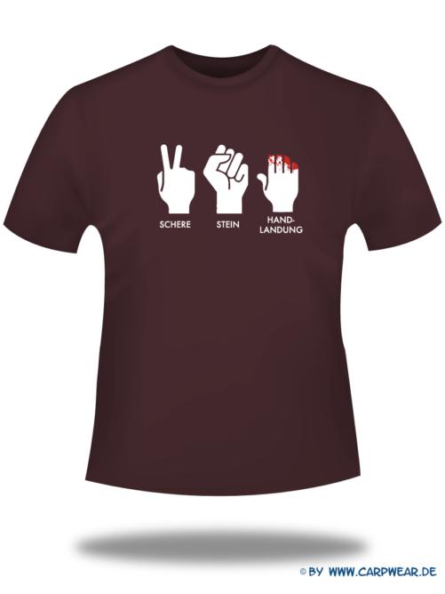 Handlandung - T-Shirt-Handlandung-Bordeaux-Motiv-Weiss.png - not starred
