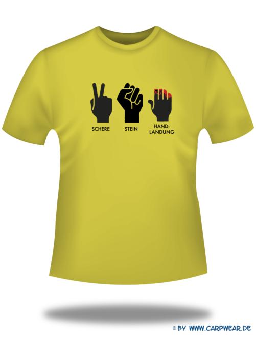 Handlandung - T-Shirt-Handlandung-Gelb-Motiv-Schwarz.png - not starred