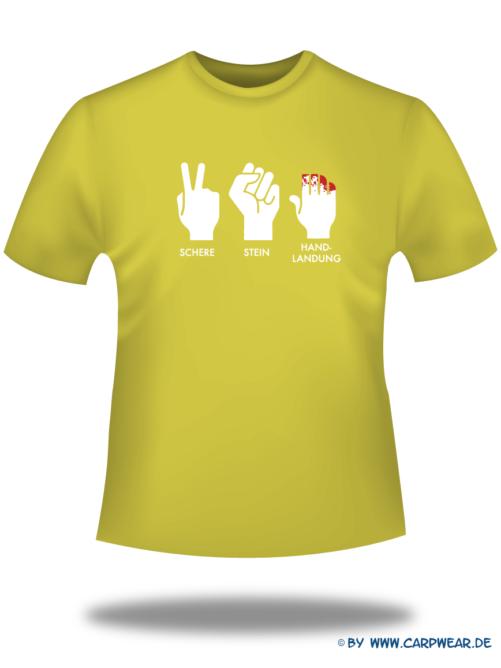 Handlandung - T-Shirt-Handlandung-Gelb-Motiv-Weiss.png - not starred