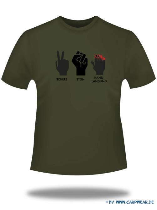 Handlandung - T-Shirt-Handlandung-Khaki-Motiv-Schwarz.png - not starred