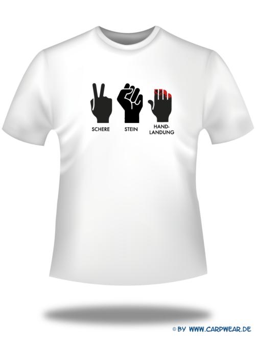 Handlandung - T-Shirt-Handlandung-Weiss-Motiv-Schwarz.png - not starred