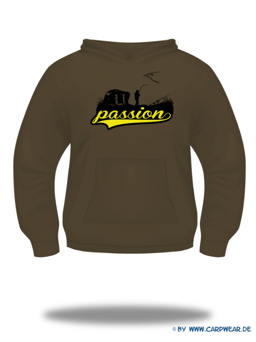 Passion - Hoody-Passion-Braun-Motiv-Schwarz.png - not starred