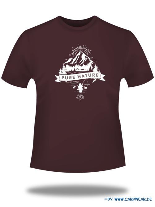 PureNature - T-Shirt-PureNature-Bordeaux-Motiv-Weiss.png - not starred