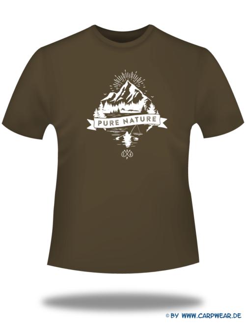 PureNature - T-Shirt-PureNature-Braun-Motiv-Weiss.png - not starred