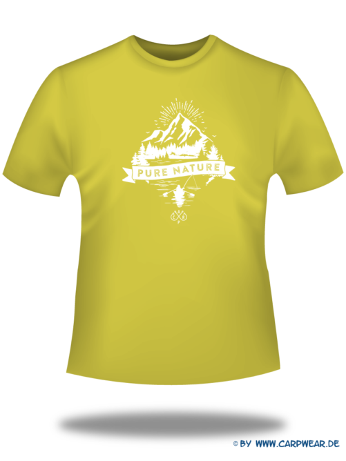 PureNature - T-Shirt-PureNature-Gelb-Motiv-Weiss.png - not starred
