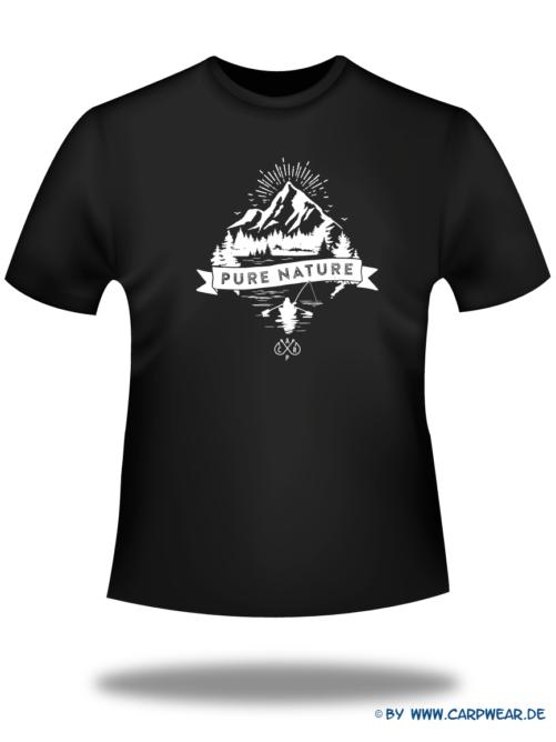 PureNature - T-Shirt-PureNature-Schwarz-Motiv-Weiss.png - not starred