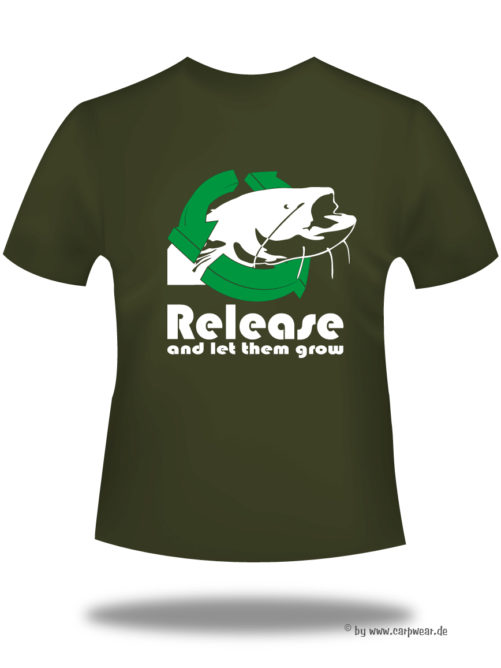 Release-and-let-them-grow-Catfish - Release-cat-t-shirt-back-khaki.jpg - not starred